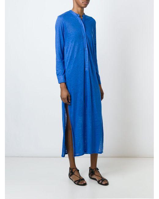 Длинное Трикотажное Платье MAJESTIC FILATURES                                                                                                              синий цвет