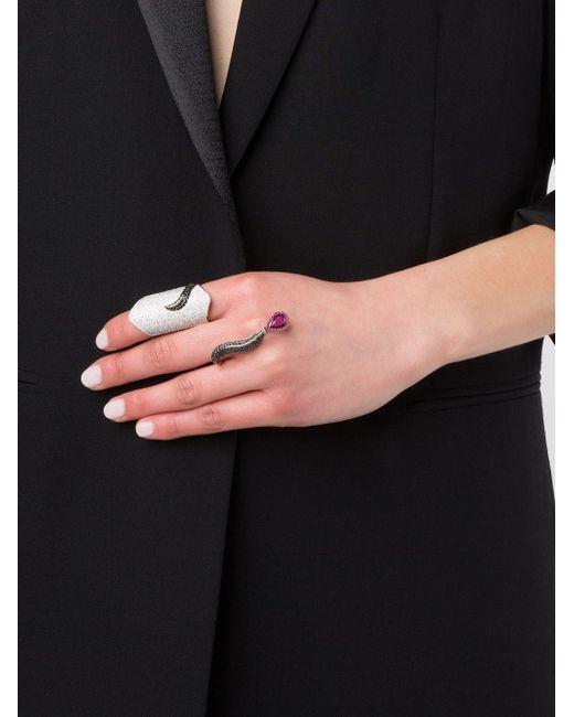Двойное Кольцо Marquise С Бриллиантами DIONEA ORCINI                                                                                                              белый цвет