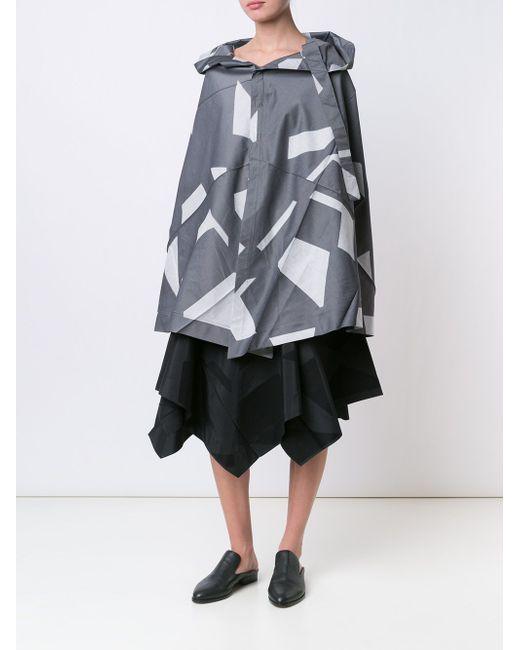 Накидка-Кейп С Принтом Issey Miyake                                                                                                              серый цвет