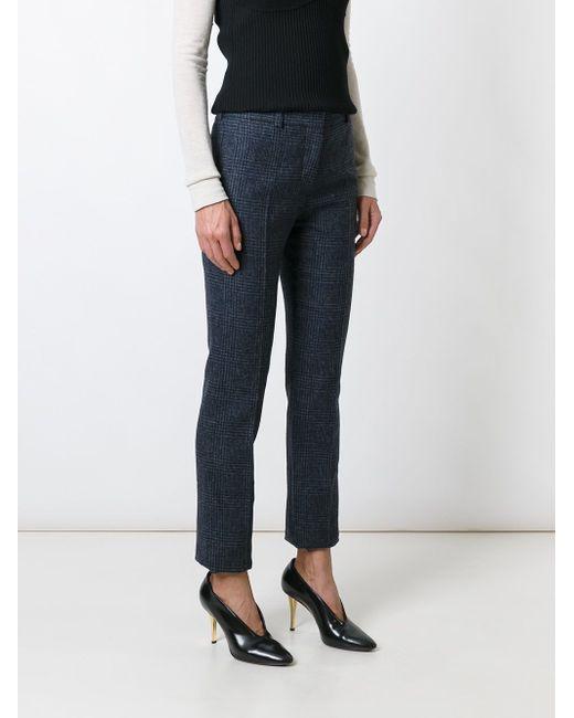 Straight Trousers Victoria Beckham                                                                                                              синий цвет