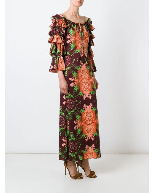 Платье С Цветочным Принтом JEAN PAUL GAULTIER VINTAGE                                                                                                              многоцветный цвет