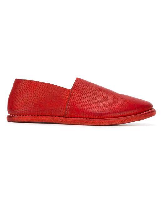 Перфорированные Лоферы GUIDI                                                                                                              красный цвет