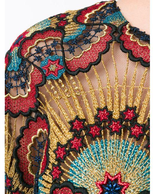 Топ С Вышивкой-Макраме Star Stripes Valentino                                                                                                              многоцветный цвет