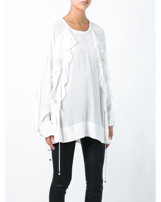 Блузка С Оборками Iro                                                                                                              белый цвет