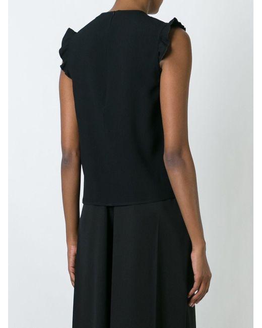 Блузка С Оборками Red Valentino                                                                                                              чёрный цвет