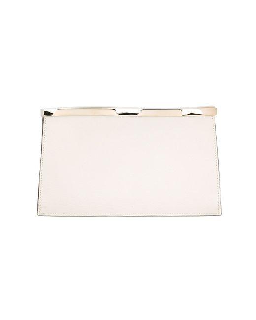 Клатч С Волнистым Дизайном Valextra                                                                                                              белый цвет