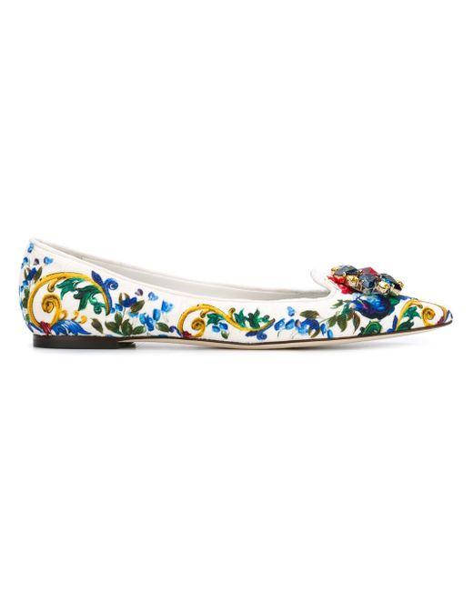 Слиперы Belluci Dolce & Gabbana                                                                                                              многоцветный цвет