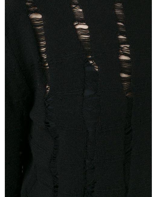 Джемпер С Потертой Отделкой T By Alexander Wang                                                                                                              чёрный цвет