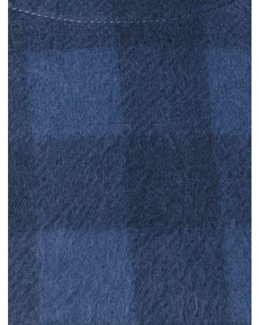 Укороченный Джемпер В Клетку MM6 by Maison Margiela                                                                                                              синий цвет