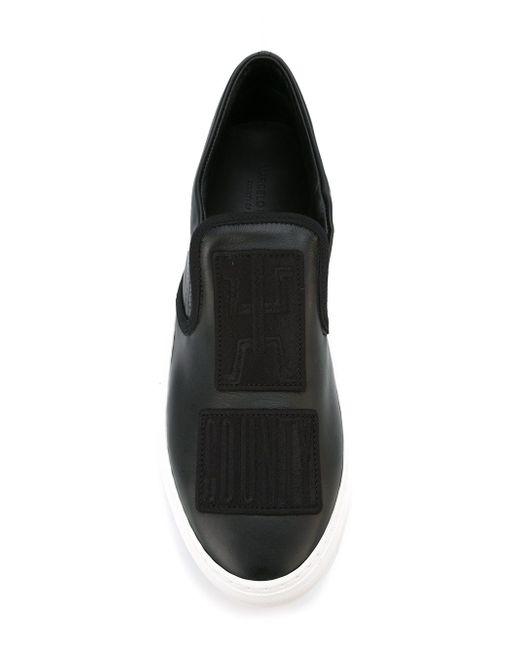 Кеды-Слипон Patches MARCELO BURLON COUNTY OF MILAN                                                                                                              чёрный цвет