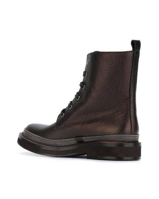 Фактурные Ботинки Brunello Cucinelli                                                                                                              чёрный цвет