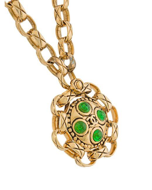 Длинное Ожерелье С Подвеской Chanel Vintage                                                                                                              серебристый цвет