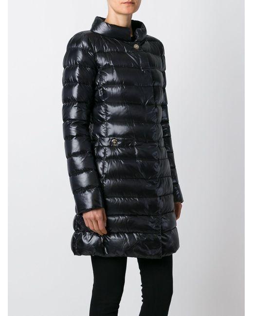 Дутое Пальто Herno                                                                                                              чёрный цвет