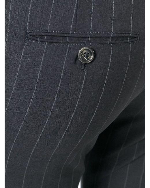 Строгие Брюки В Тонкую Полоску Brunello Cucinelli                                                                                                              синий цвет