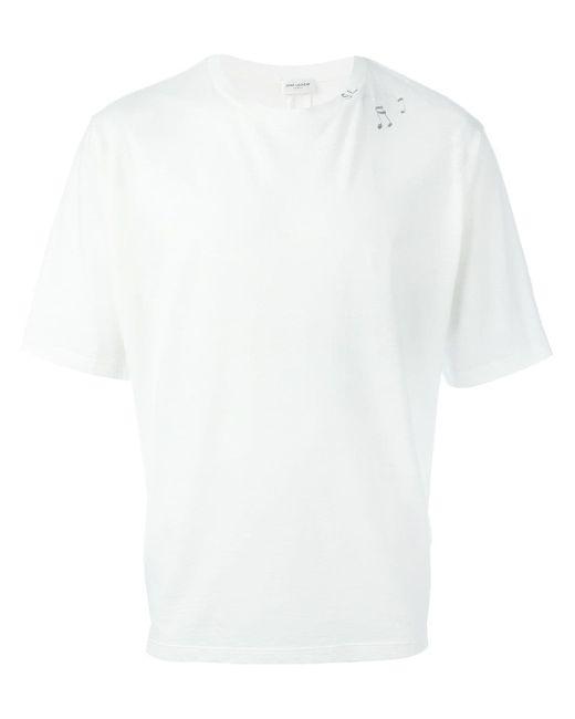 Футболка С Принтом Музыкальных Нот Saint Laurent                                                                                                              белый цвет