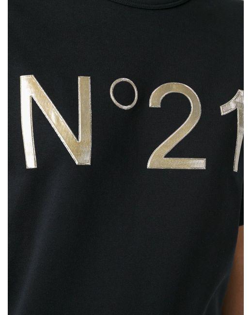 Футболка С Принтом Логотипа No21                                                                                                              чёрный цвет