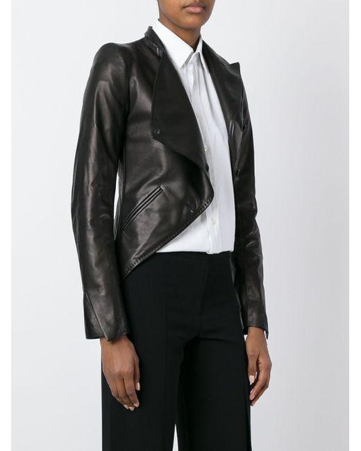 Асимметричная Укороченная Куртка Ann Demeulemeester                                                                                                              чёрный цвет