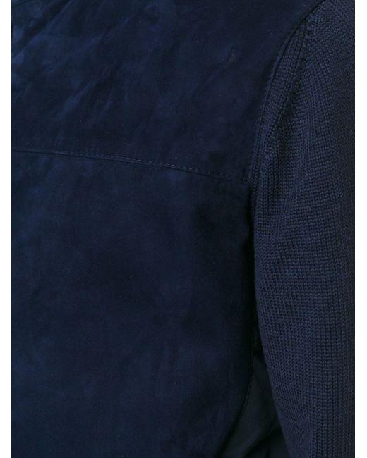 Ветровка С Панельным Дизайном Canali                                                                                                              синий цвет