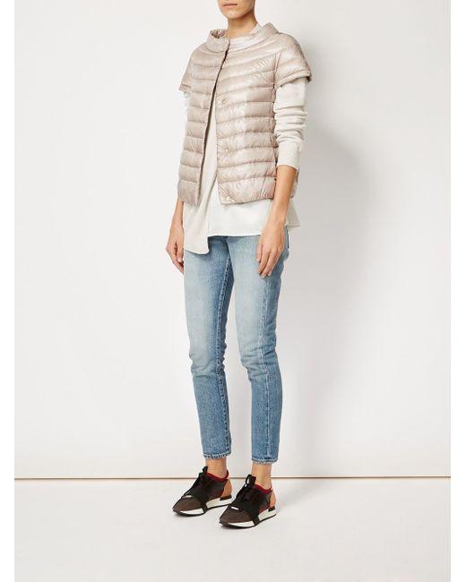 Short Sleeve Padded Jacket Herno                                                                                                              Nude & Neutrals цвет