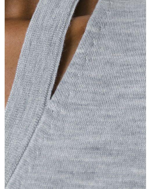 Джемпер С Вырезной Деталью Michael Michael Kors                                                                                                              серый цвет