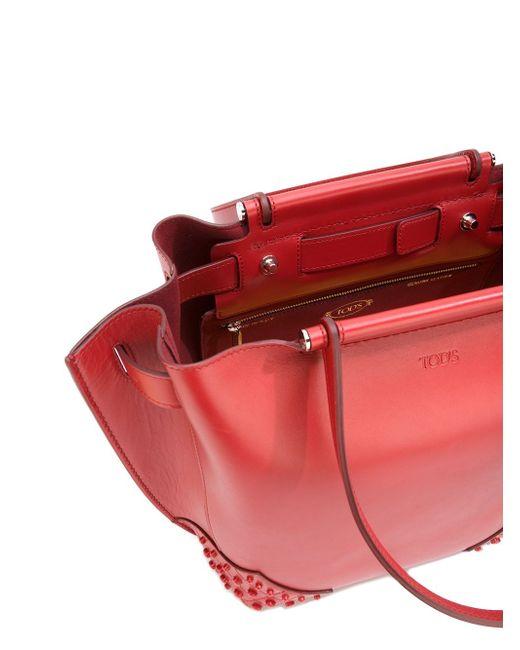 Сумка-Шопер Tod'S                                                                                                              красный цвет