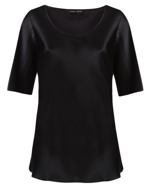 Round Neck Blouse GLORIA COELHO                                                                                                              чёрный цвет