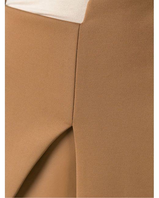 Asymmetric Skirt GLORIA COELHO                                                                                                              коричневый цвет