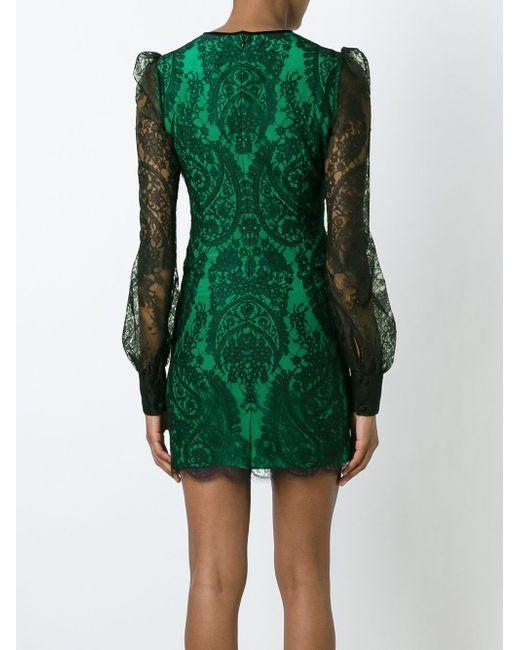 Кружевное Платье Alexander McQueen                                                                                                              чёрный цвет