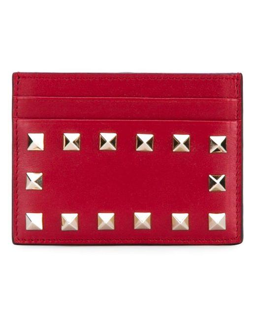 Rockstud Cardholder Valentino                                                                                                              красный цвет