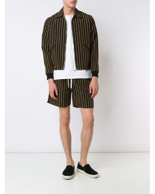 Куртка-Бомбер В Полоску SECOND/LAYER                                                                                                              чёрный цвет