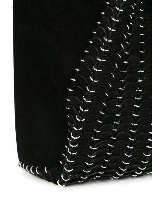 Сумка-Тоут С Отделкой Из Кольчуги Paco Rabanne                                                                                                              чёрный цвет