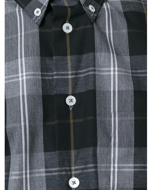 Button Down Plaid Shirt PS PAUL SMITH                                                                                                              чёрный цвет