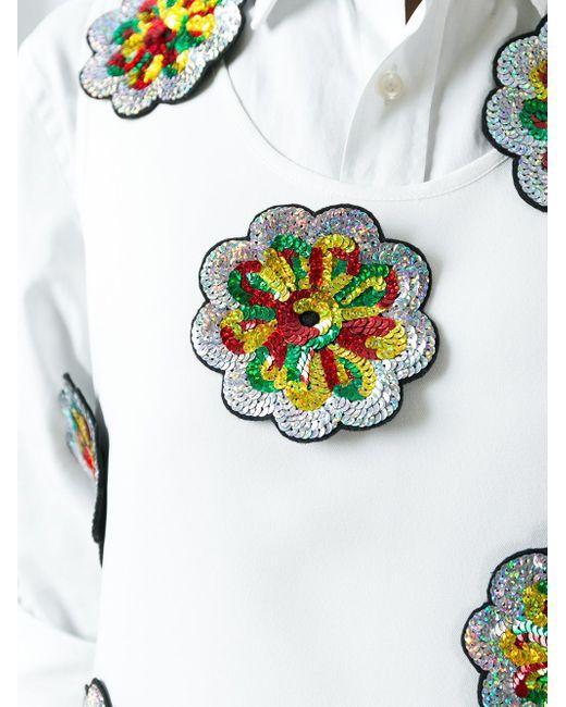 Декорированная Блузка Victoria, Victoria Beckham                                                                                                              белый цвет