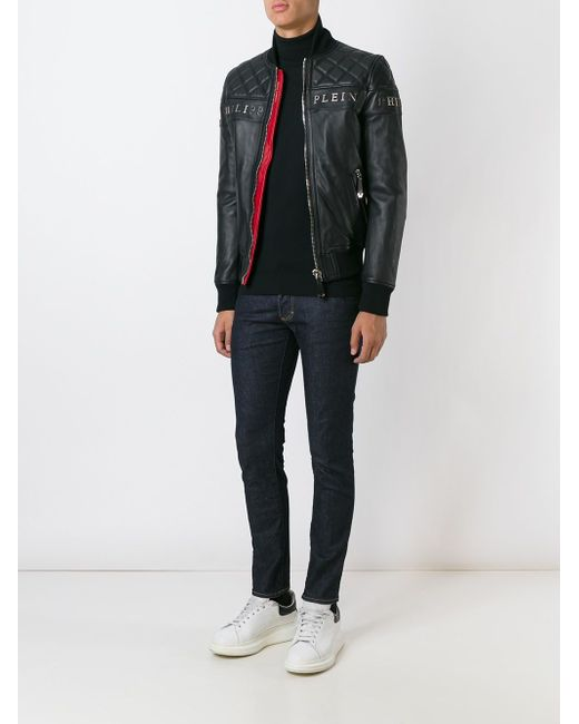 Куртка-Бомбер Crimson Philipp Plein                                                                                                              чёрный цвет