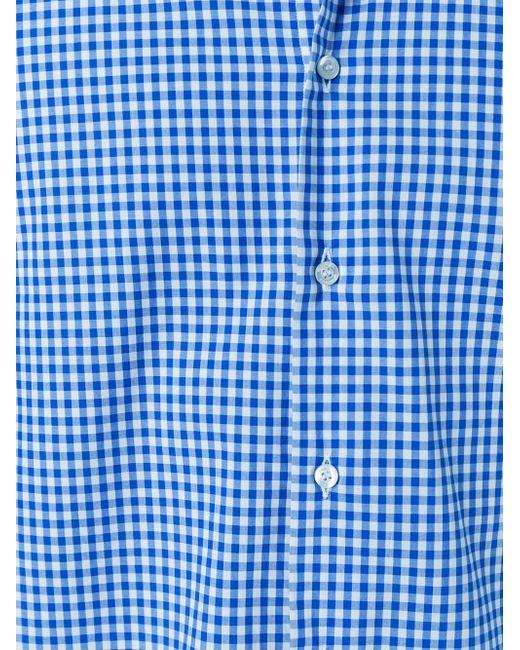 Рубашка В Клетку Etro                                                                                                              синий цвет