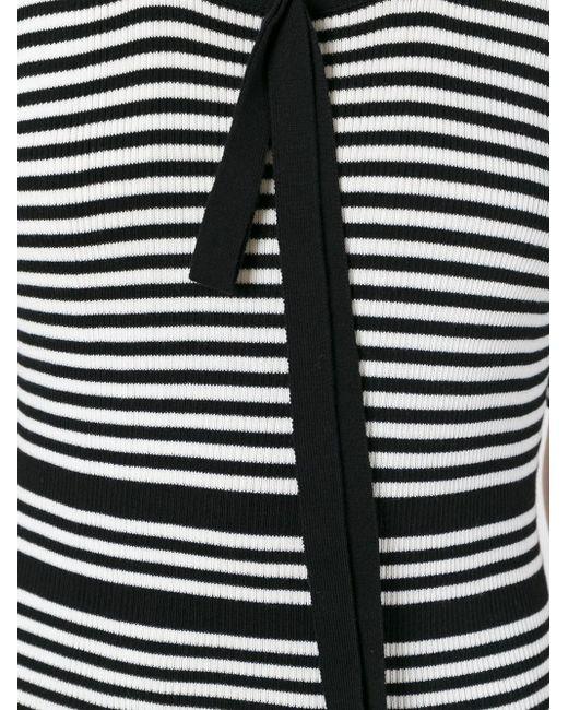 Полосатое Платье Плотной Вязки Marc Jacobs                                                                                                              чёрный цвет