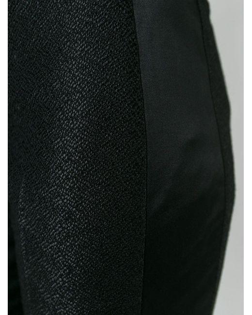 Текстурированные Брюки Со Стрелками Victoria Beckham                                                                                                              чёрный цвет