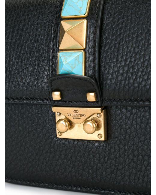 Маленькая Сумка На Плечо Glam Lock Valentino                                                                                                              чёрный цвет