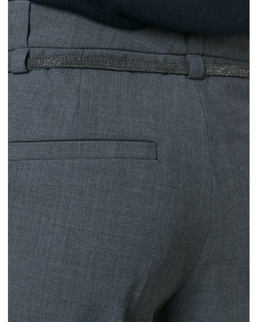 Укороченные Брюки На Шнурке Brunello Cucinelli                                                                                                              серый цвет