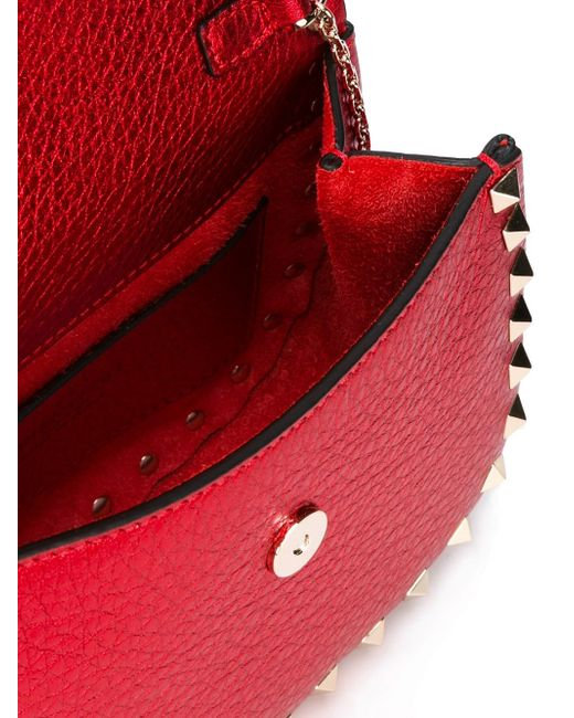 Сумка Через Плечо Rockstud Valentino                                                                                                              красный цвет