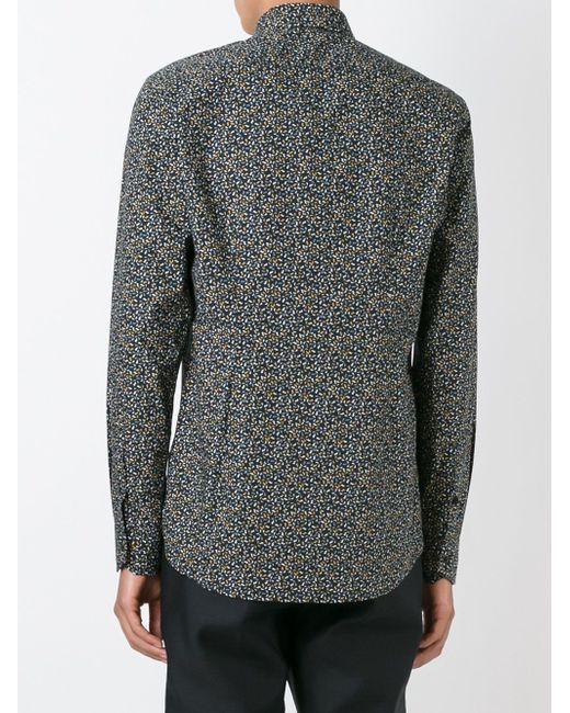 Рубашка С Узором Fendi                                                                                                              чёрный цвет