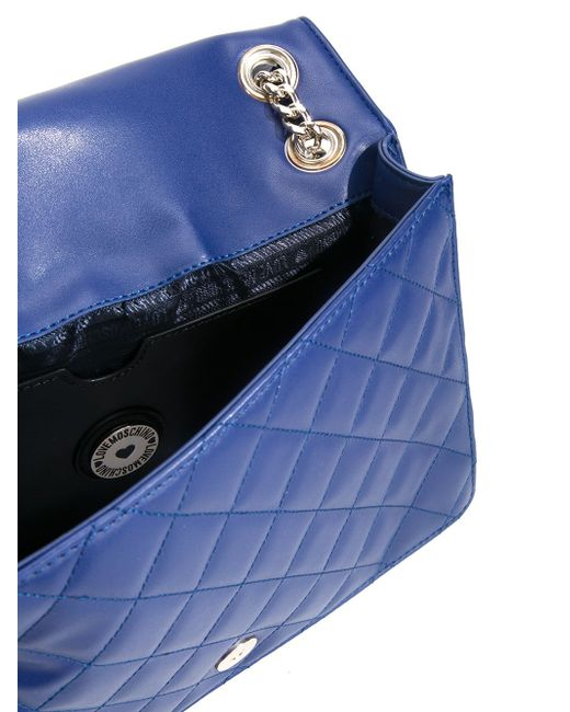Стеганая Сумка На Плечо Love Moschino                                                                                                              синий цвет