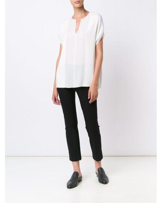 Блузка C V-Образным Вырезом Vince                                                                                                              белый цвет