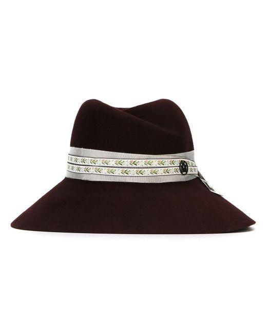 Широкополая Шляпа Maison Michel                                                                                                              розовый цвет