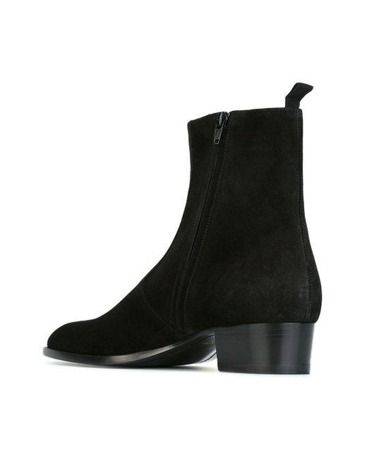 Ботинки По Щиколотку Wyatt Saint Laurent                                                                                                              чёрный цвет