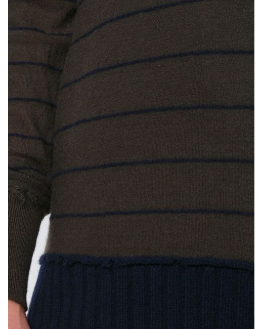Джемпер В Полоску ZIGGY CHEN                                                                                                              коричневый цвет