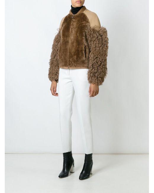 Куртка С Контрастными Рукавами MSGM                                                                                                              Nude & Neutrals цвет