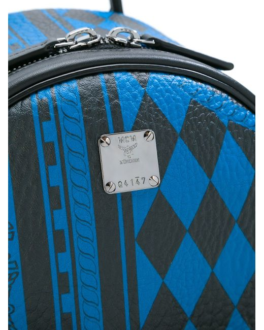 Рюкзак С Заклепками MCM                                                                                                              синий цвет