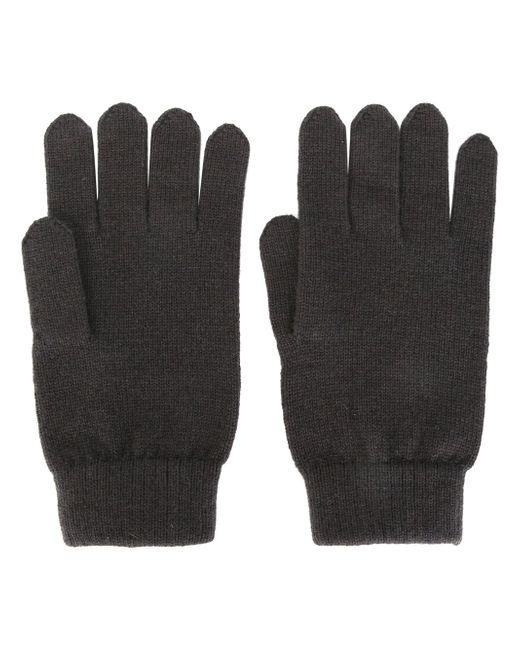 Перчатки Ребристой Вязки N.PEAL                                                                                                              серый цвет