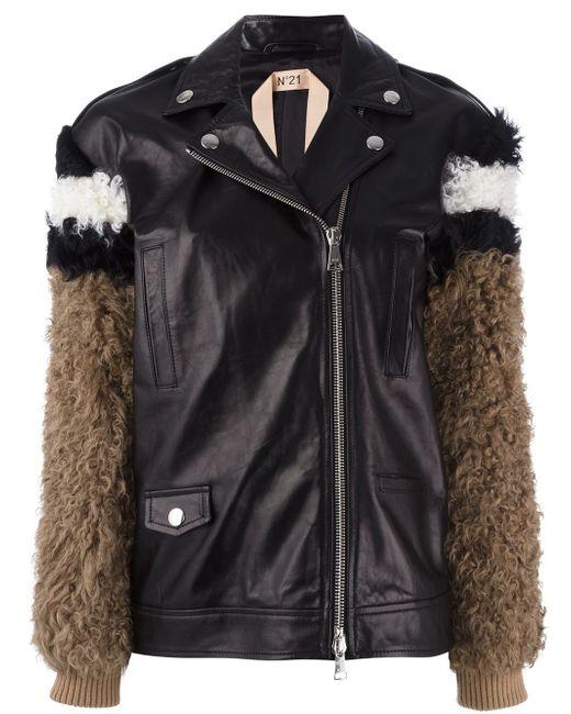 Куртка С Меховыми Рукавами No21                                                                                                              чёрный цвет